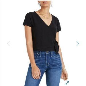 Madewell Black Wrap Top